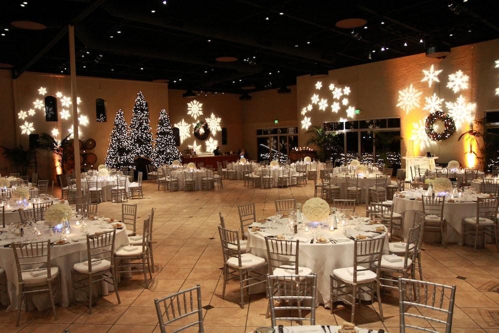 winter season event lighting